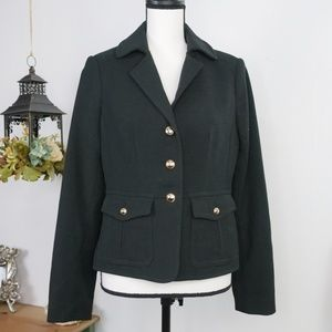 The Limited Black Thick Knit Military Jacket Small
